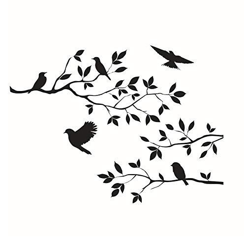 CUGBO ウォールステッカー 壁飾り 壁紙シール 部屋飾り ステッカー ツリー 鳥 木 インテリア DIY ポスター ...