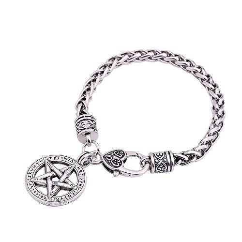 Skyrim Wicca-Amulett im nordischen Wikinger-Stil, Amulett, Runen, Pentagramm, Anhänger, Armband, Schmuck, Geschenk