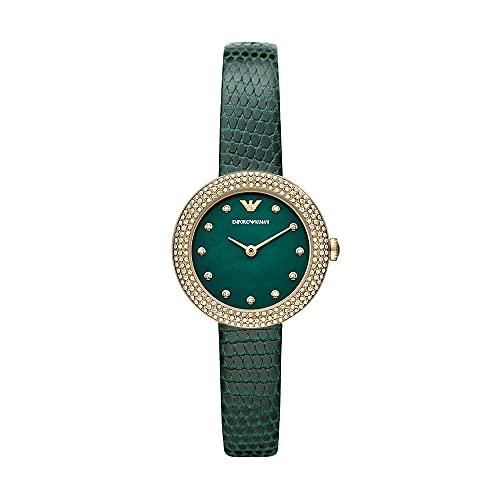 Reloj Emporio Armani para mujer, de acero inoxidable en tonos dorados con dos agujas, AR11419