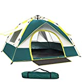 YZSS Tente pop-up 3-4 personnes Tente dôme légère imperméable coupe-vent ultra légère pour camping extérieur plage avec sac de transport (210 x 200 x 135 cm)