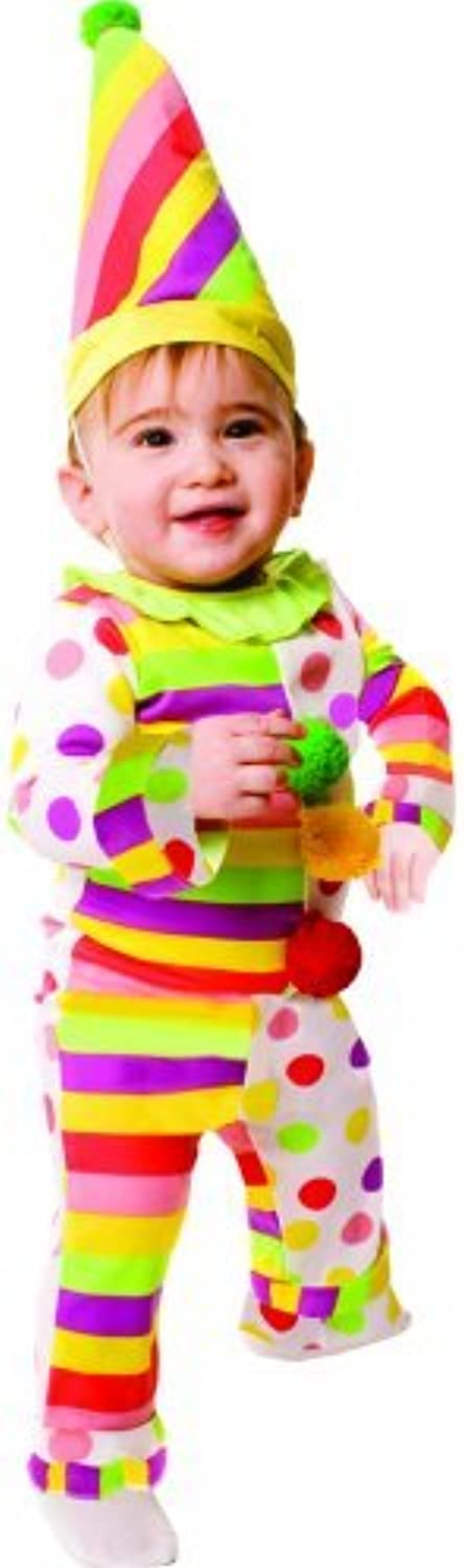 Dress up America Dots' N Stripes Infant Clown Costume Set for Baby (06 Months) by Dress Up America