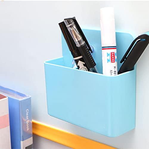 Scatola portaoggetti magnetica - Organizzatore da scrivania portapenne magnetico da 2 pezzi - Organizzatore portapenne magnetico per scatola portaoggetti frigorifero da scrivania lavagna