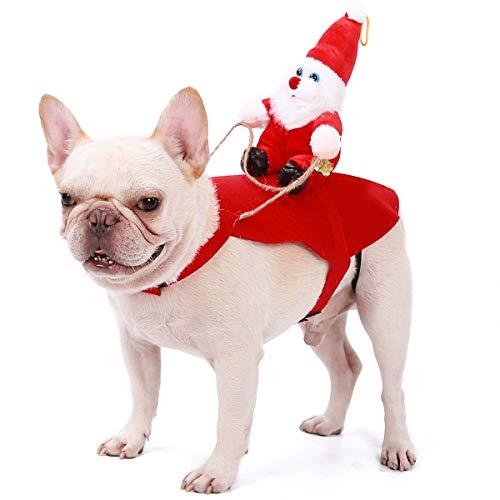 Homieco Trajes de Navidad para Perros, Santa Disfraz para Perros,...