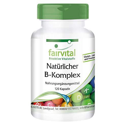 Vitamin B Komplex - natürlich aus Hefe - VEGAN - 120 Kapseln - mit Cholin und Inositol