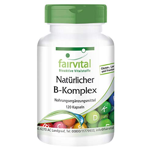 Vitamin B Complex - Natural from Yeast - Vegan - 120 Kapseln - with Choline and inositol