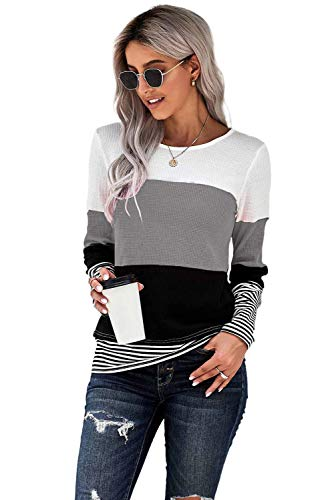 FANGJIN bluza damskie swetry zimowa wyprzedaż topy kostium dziewczyny koszula na co dzień kobiety moda Longtops damskie koszulki szary S
