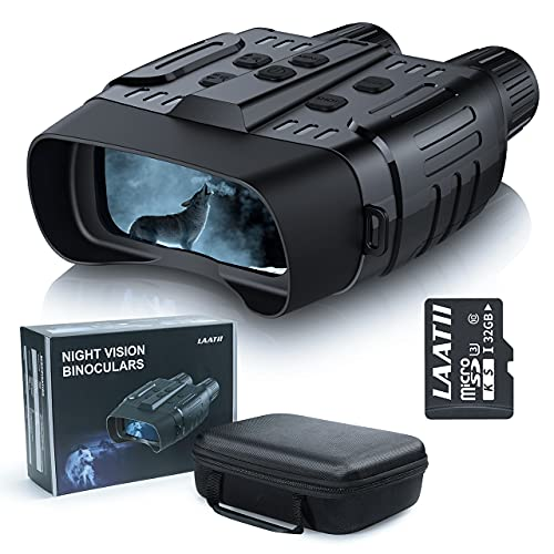 Night Vision Binoculars Goggles for Hunting, Digital Infrared Binoculars with Night Vision for Spotting, Tracking, Shooting, Surveillance with 32GB Memory...