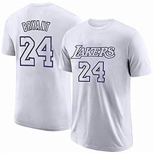 BHHT Camisetas de la NBA Lakers Kobe 1996-2016 Retirado Camiseta Conmemorativa Kobe algodón 8-24 Aspecto de Baloncesto de Vestir de Manga Corta Jerseys (Color : White, Size : Medium)