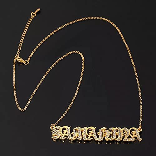 chenyueshangmao Collar Colgante Colgante Collar Colgante Personalizado circonita Letra Helado Collar para Mujer joyería Regalos Ajustable Collar Amistad Aniversario San Valentín Cumpleaños Regalo