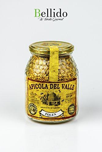 Miel 100 {a84720cc597fa1a3c8192a89f9d81669a355e739f73baeb782b80afd133eee5c} natural pura de abeja cosecha propia artesanal Apicola del Valle, diferentes sabores muy intensos. Envío GRATIS 24 h. (Polen, 500 gr)
