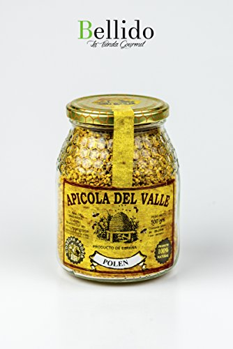 Miel 100 % natural pura de abeja cosecha propia artesanal Apicola del Valle, diferentes sabores muy intensos. Envío GRATIS 24 h. (Polen, 500 gr)