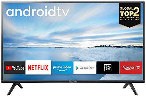 TCL 40ES561 Fernseher 100 cm (40 Zoll) Smart TV (Full HD, Triple Tuner, Android TV, Prime Video, HDR, Micro Dimming, Dolby Audio, Google Assistant) Schwarz