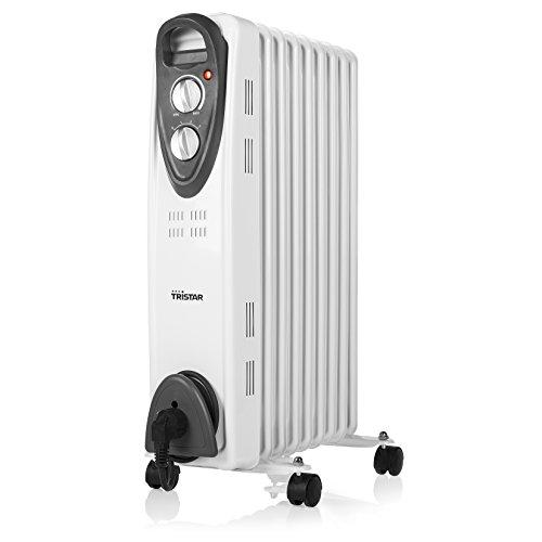 Tristar KA-5089 Elektrische radiator (olieradiator) – 3 instelbare vermogensniveaus/regelbare thermostaat/9 rib/2000 W/1,4 meter kabeltoevoerleiding
