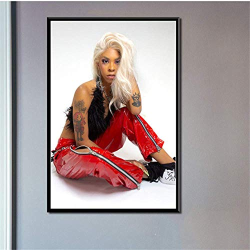 Amokr Canvas wall art 15.7'x23.6' no frame Posters And Prints Rico Nasty Hip Hop Music Wall Pictures For Living Room Vintage Home Decor