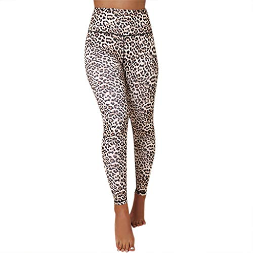 Clearance Sale ODRD Damen Yoga Hosen Pants Frauen Leopard Hose Mit Hoher Taille Laufhose Sweathose Jogging Trainingshose Fitnesshose...