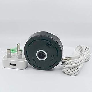 1080P Fisheye 360 Degree Panoramic Fisheye Wireless WiFi IP CCTV Home Security Camera Black Two Way Audio With Night Visio...