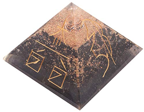 Aatm Black Tourmaline Orgone Pyramid for EMF...