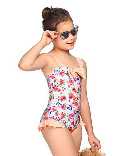 Arshiner Bañador de una pieza para niña de verano, bañador deportivo hawaiano para la playa de 3 a 10 años estampado 2 150 cm