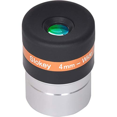 """Ocular Telescopio 4mm Pro Slokey - Lente Asférica HD de 62º - Amplio Campo de Visión y Calidad Óptica Excepcional para una Imagen Nítida y Luminosa - Súper Ligero, Compacto y Resistente (1,25"""")"""