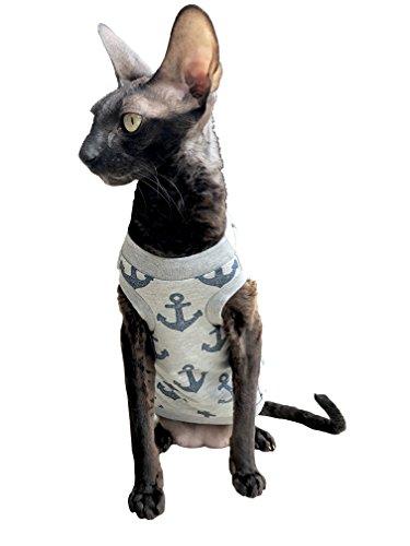 Kotomoda Katzen Kleidung T-Shirt Glänzende Anker (XS)