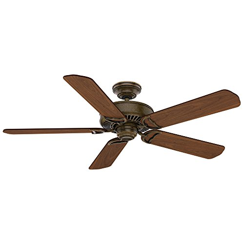 Casablanca Indoor Ceiling Fan, with wall control - Panama 54 inch, Aged Bronze, 55070,Large