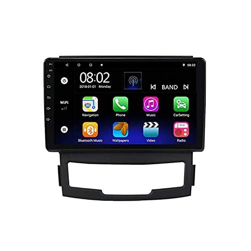 ZHFF Car Stereo Android 10.0 Radio Head Unit Compatible SsangYong Korando 3 2010-2013 Navegación GPS 9 Pulgadas HD Pantalla táctil Reproductor Multimedia MP5 Receptor de Video con WiFi SWC Mirrorlink