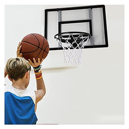 LYYJIAJU Aro Baloncesto Muro Montado Hogar aro de Baloncesto montado en la Pared con Canasta Plegable y Ordenador Personal Tablero, Equipo de Entrenamiento de Baloncesto Grande for niños y Adultos.