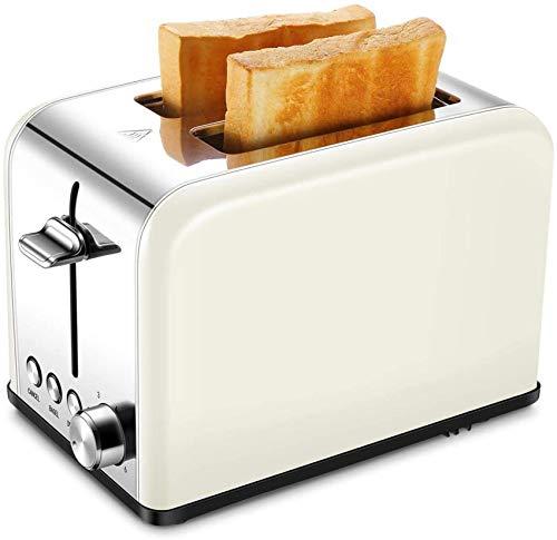 Tostadora Profesión, tostadora 2 rebanadas, tostadora pequeña retro con bagel, cancelar, función de descongelación, ranura extra ancha tostadoras compactas de acero inoxidable para gofres de pan