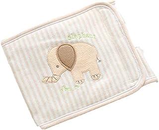 腹巻き オーガニック 寝冷え対策 綿 100% コットン 新生児 幼児 子ども ゾウさん キリンさん マジックテープで調整可能タイプ 全長約60cm