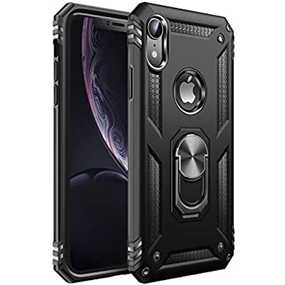 iPhone XR Case [ Military Grade ] 15ft. Drop Tested Protective Case | Kickstand | Compatible with Apple iPhone XR- Black