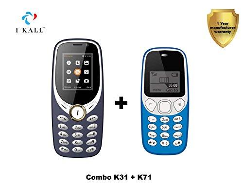 I KALL Feature Mobile Combo K31 Dark Blue and K71 Light Blu