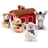 iPlay, iLearn Plush Baby Rattle Toys, Newborn Soft Farm Stuffed Animal Rattles Set, Infant Hand Grip Shaker Sensory Development Soother, Birthday Shower Gift for 3 6 9 12 Month, 1 Year Old Girls, Boys