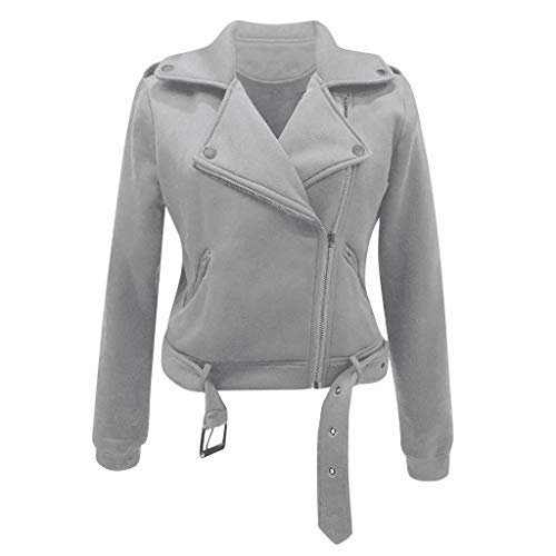 Buy Women's Blazer Bomber Jacket Zip Up Motorcycle Jacket Lapel Lightweight Short Moto Biker Jacket ...