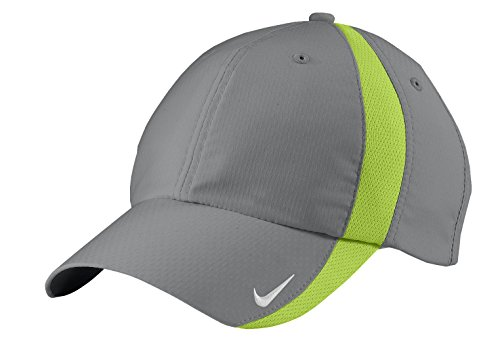 NIKE Sphere Dry Hat Mens Adjustbale Cap 247077 -Cool Grey/Charteuse