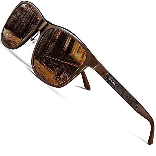 ROCKNIGHT男士太阳镜偏光防紫外线UV400驾驶太阳镜金属框架太阳镜广场男性全帧布朗太阳镜大头