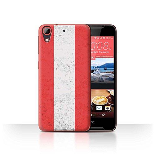 Stuff4 Hülle/Hülle für HTC Desire 628 / Österreich Muster/Flagge Kollektion