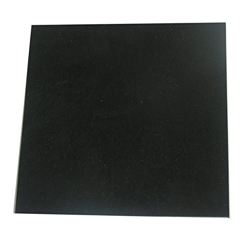 Black Heat Resistant Rubber Pad Thin Silicone Grade Rubber Gasket Sheet 12 by 12 inch,1/25 Inch Thick Gaskets DIY Material, Supports, Leveling, Sealing, Bumpers, Protection, Abrasion, Flooring