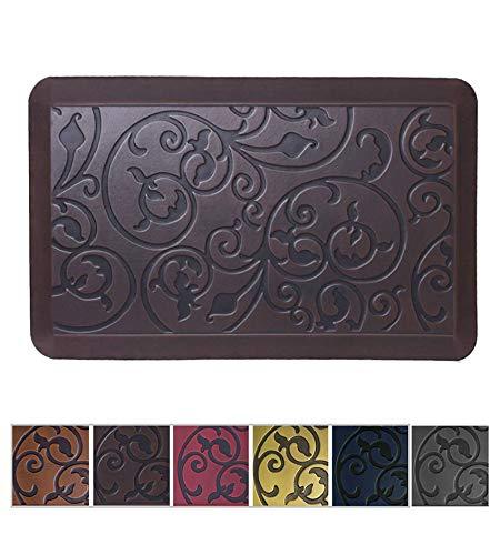 Amcomfy Kitchen Anti Fatigue Mat,Comfort Floor Mats,Standing Desk Mats,Antique Series (20 x 32 x 3/4 Inches, Antique Dark)