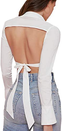 Button down crop tops _image0
