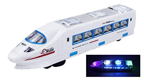 YIJIAOYUN Juguete de Tren eléctrico con Sonido y Luces Intermitentes / Golpes...