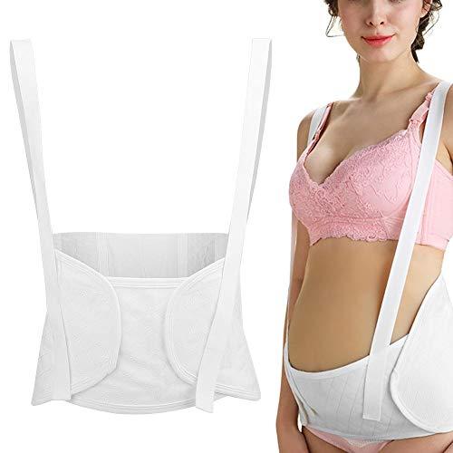 Mutterschaftsgürtel, Schwangere Verstellbarer Schultergurt Bauch Leichter und atmungsaktiver vorgeburtlicher Bauch Stützband Baumwolle Becken Druckentlastung(weiß L.)