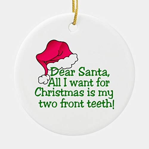 rfy9u7 3 Inch Christmas Ornament, My Two Front Teeth Ornament Hanging Christmas Tree Decorations
