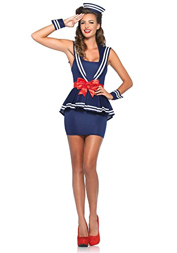 Leg Avenue 85403 - Aye Aye Amy Damen kostüm, Größe Large (EUR 40)