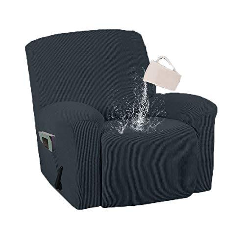 Cubiertas de silla reclinable repelente al agua de la silla cubiertas de silla de poliéster y spandex cubiertas de sofá para perros Gato PET PET PETS PULSOS REPLIZADOR COVER REPRANDER Slipcver, 1 piez