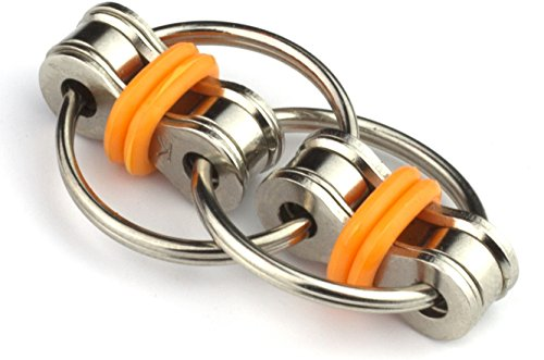 Tom's Fidgets Original Flippy Chain Fidget Toy - Perfect for ADHD, Anxiety, and Autism - Orange