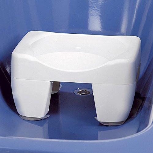 WENKO Badewannen-Hocker, Badewannensitz mit Saugnäpfe, Wannensitz Schemel Duschhocker, Kunststoff