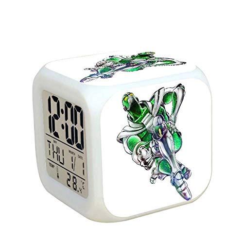 LINYIN Quadratische Uhr Led Bunte Nachtlicht glühende Uhr Kinder Schlummern Student Geschenk Wecker TBNZ Wonderful Adventure 038.