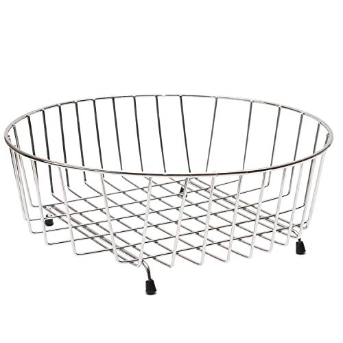 Decorwelt Afdruiprek, rond, 34 cm, roestvrij staal, voor fruit, zilver, borden, kopjes, vaatdroger, keuken