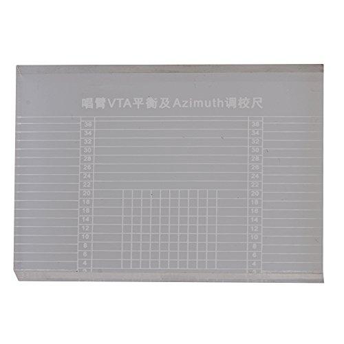6,6x4,8x0,75 cm Acryl Kristall Vinyl Plattenspieler Tonarm VTA Balance Plattenspieler Patrone Azimut Lineal