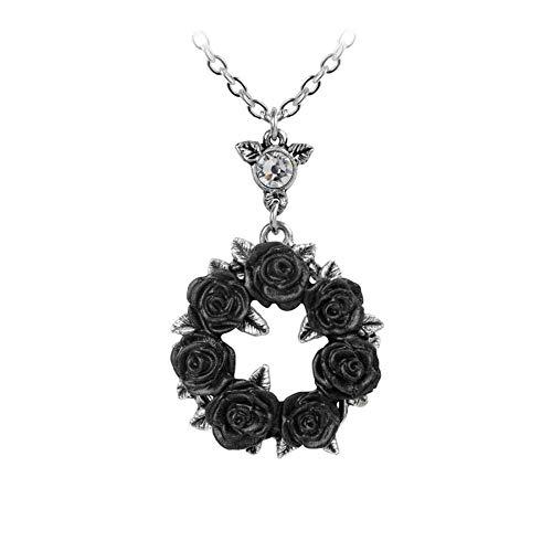 Alchemy Gothic Bacchanal Rose Halskette Hartzinn Nickelfrei Kette Kollier Neu